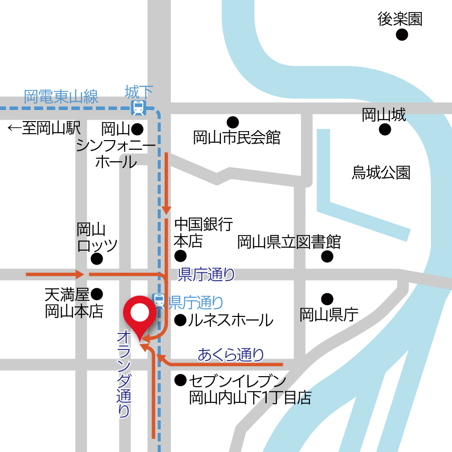 宇野表町駐車場地図