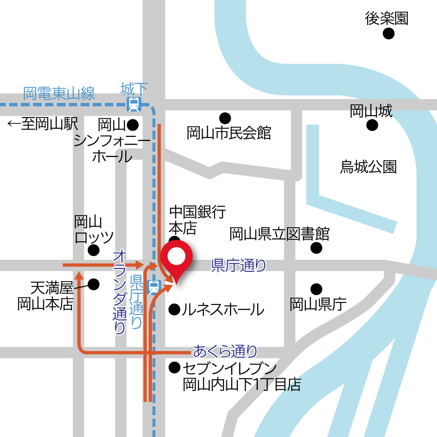 宇野内山下駐車場地図